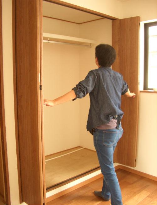収納扉の開閉確認