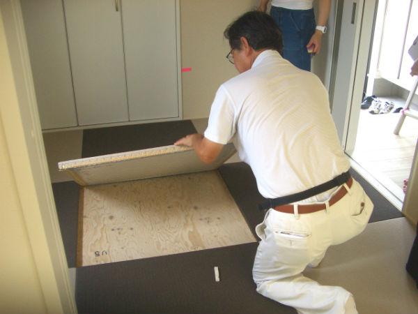 和室の畳下の検査