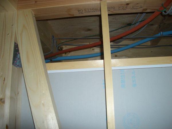 天井点検口の内部