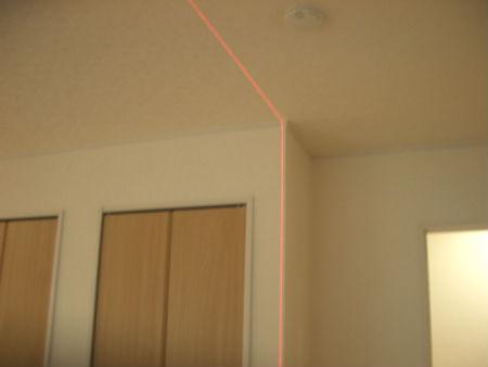 壁の垂直検査
