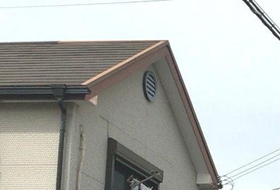 切妻屋根の通気口の事例