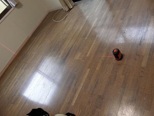 床の傾斜測定