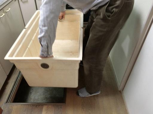 床下収納庫のボックス